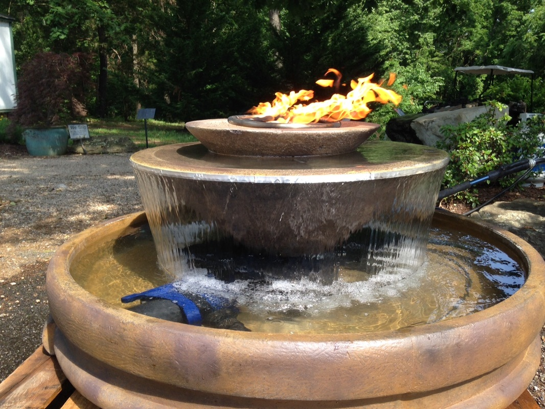 Fountain fire pit welcome to boulder fire pits for Fire pit water feature combo