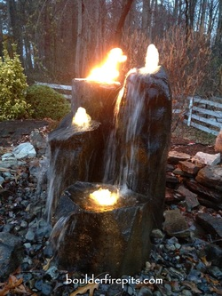 Fountain Fire Pit Blank Title